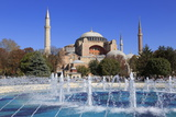 Haghia Sophia  UNESCO World Heritage Site  Sultanahmet District  Istanbul  Turkey  Europe