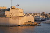 Fort St Angelo  Fishing Boat and Vittoriosa (Birgu) at Sunset  Grand Harbour