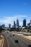 Cars on Northern Freeway Head into Perth City  Western Australia  Australia  Pacific