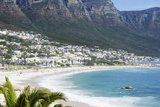 Overview of Clifton Beach with Homes and Mountains in the Bay  Cape Peninsula  Cape Town