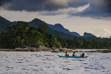 Outrigger Cruising on the Waters Near the Puerto Princesa Underground River  Palawan  Philippines