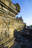 Early Morning Light at the Temple Complex of Borobodur  Java  Indonesia  Southeast Asia  Asia