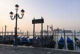 Gondolas Moored on the Lagoon  San Giorgio Maggiore Beyond  Riva Degli Schiavoni