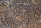 Part of the Kohta Circus Petroglyph Panel  Gold Butte  Nevada  Usa