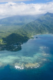 Aerial of the Island of Upolu  Samoa  South Pacific  Pacific