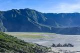 View over the Mount Bromo Crater  Bromo Tengger Semeru National Park  Java  Indonesia