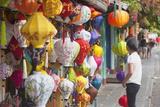 Woman at Lantern Shop  Hoi An  Quang Nam  Vietnam  Indochina  Southeast Asia  Asia