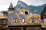 The Famous Painted Houses of Oberammergau  Bavaria  Germany  Europe