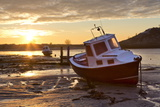 The Aln Estuary During a Stunning Winter Sunrise from the Beach at Low Tide