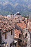 Elevated View of Red Roof Tiles and the Domes of the Church of St Nicholas  Kotor  Montenegro