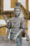 Statue in Wat Leu Temple  Sihanoukville Port  Sihanouk Province  Cambodia  Indochina