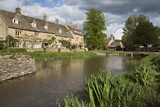 Cotswold Stone Cottages on the River Eye  Lower Slaughter  Cotswolds  Gloucestershire  England
