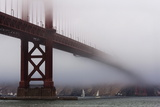 Golden Gate Bridge in the Mist  San Francisco  California  United States of America  North America