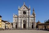 Piazza Santa Croce and Basilica Di Santa Croce  Florence  Tuscany  Italy  Europe
