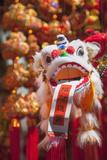 Chinese Lion Decoration at Fa Yuen Street Market  Mongkok  Kowloon  Hong Kong  China  Asia