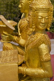 Gold Statue in Wat Krom Temple  Sihanoukville Port  Sihanouk Province  Cambodia  Indochina