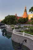 Alexander Gardens and the Kremlin  Moscow  Russia  Europe