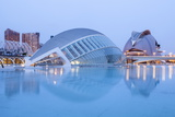 The Hemsiferic and El Palau De Les Arts Reina Sofia in the City of Arts and Sciences  Valencia