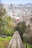 Teleferico Cable Car Ascending Hill at Parque Metropolitano De Santiago