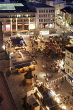 View from Kilianskirche Church of Christmas Fair in Kiliansplatz Square