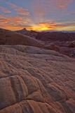 Fiery Sunrise Above Sandstone Formations  Valley of Fire State Park  Nevada  Usa