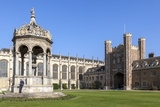 The Great Court  Trinity College  Cambridge  Cambridgeshire  England  United Kingdom  Europe