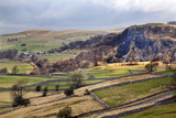 Stainforth Scar from Langcliffe Near Settle  Yorkshire Dales  Yorkshire  England