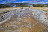 Grand Geyser Run-Off  Upper Geyser Basin  Yellowstone National Park  Wyoming  Usa