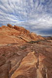 Sandstone Formation with Clouds  Valley of Fire State Park  Nevada  Usa