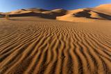 Orange Sand Dunes and Sand Ripples  Erg Chebbi Sand Sea  Sahara Desert Near Merzouga