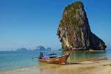 Ao Phra Nang Bay  Railay Beach  Hat Tham Phra Nang Beach  Krabi Province  Thailand
