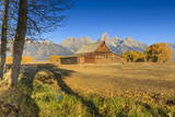 Mormon Row Barn on a Clear Autumn (Fall) Morning  Antelope Flats  Grand Teton National Park