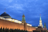 The Kremlin at Night with Lenin's Tomb from Red Square  Moscow  Russia  Europe