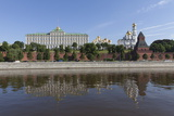 The River Moskva with the Kremlin  Moscow  Russia  Europe