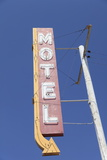 Motel  Retro Sign  Route 66  Central Avenue  Albuquerque  New Mexico  Usa