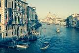 The Grand Canal and the Domed Santa Maria Della Salute  Venice  Veneto  Italy  Europe