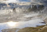 Freezing Mists and Thermal Features  Dawn  West Thumb Geyser Basin