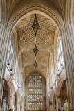 Bath Abbey Interior  Bath  Avon and Somerset  England  United Kingdom  Europe