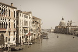 The Grand Canal and the Domed Santa Maria Della Salute  Venice  Veneto  Italy  Europe