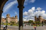 Plaza De Armas with the Cathedral and Iglesia De La Compania De Jesus Church  Cuzco  Peru