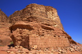 Remains of T E Lawrence's House  Wadi Rum  Jordan  Middle East