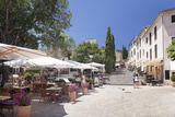 Street Cafes and Restaurant at Market Place Placa Major  Pollenca  Majorca