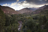 The High Atlas Mountains with a Dusting of Winter Snow on the Higher Peaks