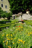 The Cloister Garden  Rothenburg Ob Der Tauber  Romantic Road  Franconia  Bavaria  Germany  Europe