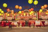 West Kowloon Bamboo Theatre at Dusk  Kowloon  Hong Kong  China  Asia