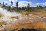 Colourful Thermal Features  Upper Geyser Basin  Yellowstone National Park  Wyoming  Usa
