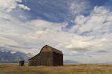 Mormon Row Barn under a Big Sky in Autumn (Fall)  Antelope Flats  Grand Teton National Park