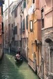 Gondola with Tourists on a Narrow Canal  Venice  UNESCO World Heritage Site  Veneto  Italy  Europe
