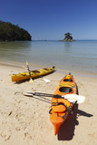 Kayaks on Beach  Torrent Bay  Abel Tasman National Park