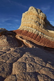 White  Tan  and Red Sandstone Butte  White Pocket  Vermilion Cliffs National Monument  Arizona  Usa